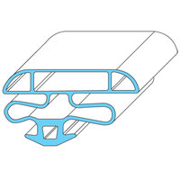 All Points 74-1214 Magnetic Door Gasket - 26 1/8 inch x 44 3/8 inch