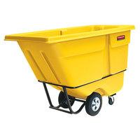 Rubbermaid FG131500YEL Yellow 1.0 Cubic Yard Tilt Truck / Trash Cart (1250 lb.)