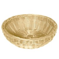 GET WB-1512-N Designer Polyweave 11 1/2 inch x 3 1/2 inch Natural Round Plastic Basket