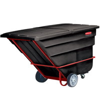Rubbermaid FG102600BLA Black 1.5 Cubic Yard Tilt Truck / Trash Cart (2100 lb.)