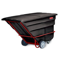 Rubbermaid FG102600BLA Black 1.5 Cubic Yard Tilt Truck (2100 lbs)