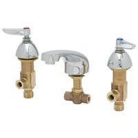 T&S B-2990-FL Deck Mount Commercial Mixing Faucet with 6 inch to 24 inch Adjustable Centers and 5 inch Spout