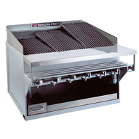 Bakers Pride CH-10GS Natural Gas 55 inch 10 Burner Heavy Duty Glo-Stone Charbroiler - 180,000 BTU