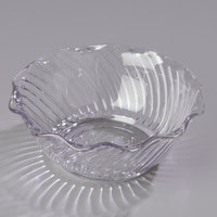 Carlisle 453407 Clear Polycarbonate 13 oz. Tulip Berry Dish - 24/Case