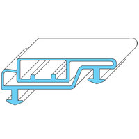 All Points 74-1226 Magnetic Door Gasket - 21 3/4 inch x 50 3/4 inch