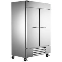 Beverage-Air HBF49-1-S Horizon Series 52 inch Solid Door Reach-In Freezer with LED Lighting