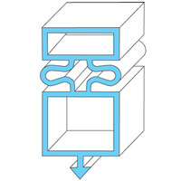 All Points 74-1233 Magnetic Door Gasket - 23 1/4 inch x 50 3/8 inch