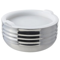 Bon Chef 9317 Cold Wave 0.75 Qt. Stainless Steel Triple Wall Bowl with Stackable Lid