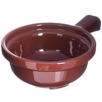 Carlisle 700828 Lenox Brown 12 oz. Polycarbonate Handled Soup Bowl - 24/Case