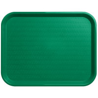 Carlisle CT141809 Customizable Cafe 14 inch x 18 inch Green Standard Plastic Fast Food Tray - 12/Case