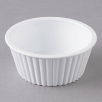 Carlisle 084502 White 4.5 oz. Fluted Ramekin - 48/Case