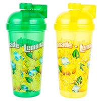 32 oz. Flip-Top Yellow / Green Lemonade Sports Bottle   - 100/Case