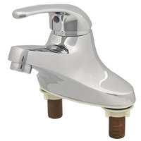 T&S BA-2711 Deck Mounted Lavatory Faucet with 4 5/16 inch Spout, 2.2 GPM Aerator, 4 inch Centers, and Single Lever Handle