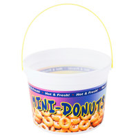 48 oz. Plastic Mini Donut Bucket with Handle   - 160/Case