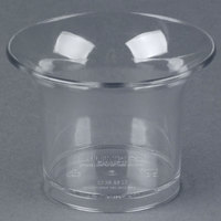 Carlisle 082007 2.6 oz. Clear Round Oyster Sauce Cup - 144/Case