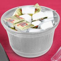 Tablecraft CW1453N 16 oz. Natural Cast Aluminum Condiment Bowl