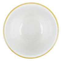 CAC SC-4G Seville 7.25 oz. Ivory (American White) Scalloped Edge China Bouillon Cup with Gold Band   - 36/Case