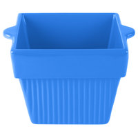 Tablecraft CW1460CBL 1.5 Qt. Cobalt Blue Cast Aluminum Square Condiment Bowl