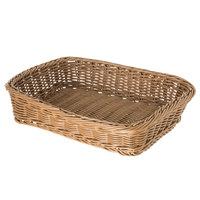 Carlisle 655225 Tan 11 1/2 inch x 8 1/2 inch Woven Rectangular Basket - 6/Case