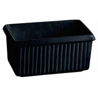 Tablecraft CW1510MBS 2.25 Qt. Midnight with Blue Speckle Cast Aluminum Rectangle Server with Ridges