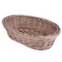 Carlisle 655025 Brown 9 inch x 6 inch Woven Oval Basket - 6/Case