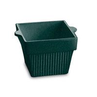 Tablecraft CW1460BKGS 1.5 Qt. Black with Green Speckle Cast Aluminum Square Condiment Bowl