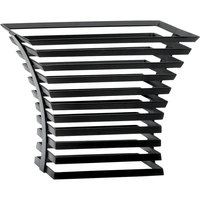 Cal-Mil 1466-10-13 Black Metal Elevation Riser - 12 inch x 12 inch x 10 inch