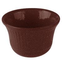 Tablecraft CW1453MAS 16 oz. Maroon Speckle Cast Aluminum Condiment Bowl