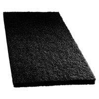 Scrubble by ACS 72-14 14 inch x 20 inch Black Stripping Floor Pad - Type 72 - 5/Case