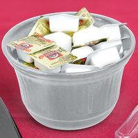 Tablecraft CW1453GY 16 oz. Gray Cast Aluminum Condiment Bowl
