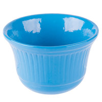 Tablecraft CW1453SBL 16 oz. Sky Blue Cast Aluminum Condiment Bowl