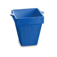 Tablecraft CW1470BL 2 Qt. Cobalt Blue Cast Aluminum Square Condiment Bowl