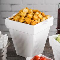 Tablecraft CW1470W 2 Qt. White Cast Aluminum Square Condiment Bowl