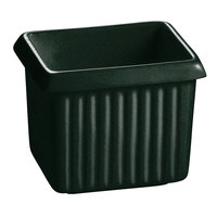 Tablecraft CW1500HGNS 1 Qt. Hunter Green with White Speckle Cast Aluminum Rectangle Server with Ridges