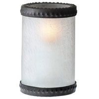 Sterno Products 80310 5 inch Frost Crackle Glass Liquid Candle Holder with Bronze Rings