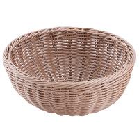 Carlisle 655325 Tan 9 inch Woven Round Basket - 6/Case