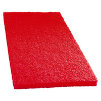 Scrubble by ACS 51-14x20 14 inch x 20 inch Red Buffing Floor Pad - Type 51 - 5/Case