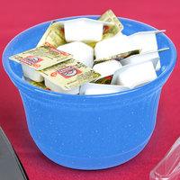 Tablecraft CW1453BS 16 oz. Blue Speckle Cast Aluminum Condiment Bowl