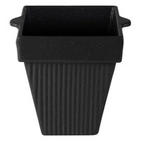 Tablecraft CW1470MIS 2 Qt. Midnight Speckle Cast Aluminum Square Condiment Bowl