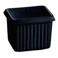 Tablecraft CW1500MBS 1 Qt. Midnight with Blue Speckle Cast Aluminum Rectangle Server with Ridges