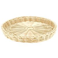 Carlisle 655406 Tan 11 inch Woven Round Basket - 6 / Case