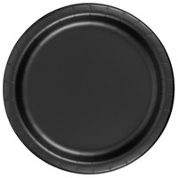 Creative Converting 79134B 7 inch Black Velvet Paper Plate - 240 / Case