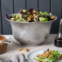 Tablecraft CW3140N 5.5 Qt. Natural Cast Aluminum Tulip Salad Bowl