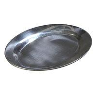 Carlisle 60901 11 1/2 inch x 8 inch Aluminum Steak / Fajita Platter - 12 / Case