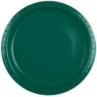 Creative Converting 503124B 10 inch Hunter Green Paper Banquet Plate - 240/Case