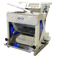 29 1/2 inch Countertop Electric Bread Slicer - 3/4 inch Cutting Width