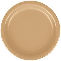 Creative Converting 79103B 7 inch Glittering Gold Paper Plate - 240 / Case