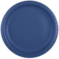 Creative Converting 501137B 10 inch Navy Blue Paper Plate - 240/Case