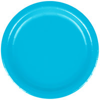Creative Converting 793131B 7 inch Turquoise Blue Paper Plate - 240/Case