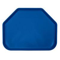 Cambro 1418TR123 14 inch x 18 inch Trapezoid Amazon Blue Customizable Fiberglass Camtray - 12/Case